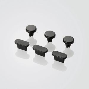エレコム Phone 5/ 5s/ 5c用イヤホン&Lightningコネクタキャップセット(ブラック) P-ACAST2BK 返品種別A|joshin