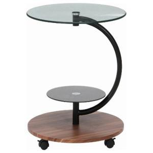 不二貿易 ガラスラウンドテーブル マーブル(ダークブラウン) ROMA-1 96699 返品種別A|joshin