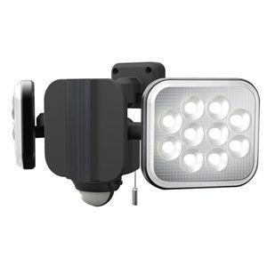 ムサシ LEDセンサーライト(12W×2灯) RITEX LED-AC2024 返品種別A