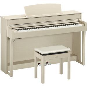 ヤマハ 電子ピアノ(ホワイトアッシュ調)(高低自在椅子&ヘッドホン&ソングブック付き) YAMAHA Clavinova(クラビノーバ) CLP-645WA 返品種別A|joshin