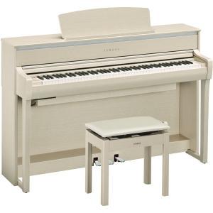 ヤマハ 電子ピアノ(ホワイトアッシュ調)(高低自在椅子&ヘッドホン&ソングブック付き) YAMAHA Clavinova(クラビノーバ) CLP-675WA 返品種別A|joshin