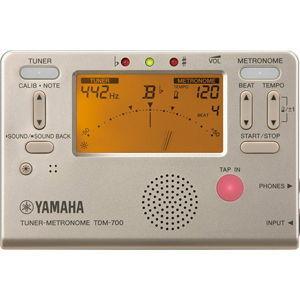 ヤマハ チューナー/ メトロノーム(ゴールド) YAMAHA TDM-700G 返品種別A|joshin