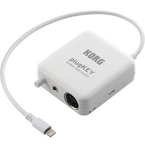 コルグ モバイルMIDIデバイス+オーディオインターフェイス(ホワイト) KORG PLUGKEY-WH 返品種別A