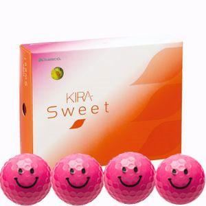キャスコ ゴルフボール KIRA SWEET キャラ 3ピース(ダース)キラピー(ピンク) KIRASWキヤラP ダ-ス ピンク 返品種別A|joshin