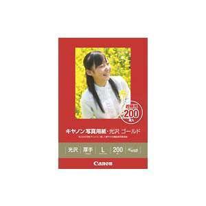 キヤノン キヤノン写真用紙・光沢 ゴールド L判 200枚 GL-101L200 返品種別A|joshin