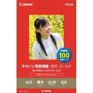 キヤノン キヤノン写真用紙・光沢ゴールド 2L判 100枚 GL-1012L100 返品種別A|joshin