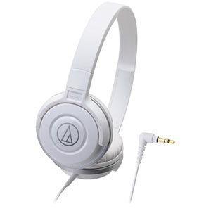 オーディオテクニカ ダイナミック密閉型ヘッドホン (ホワイト) audio-technica ATH...