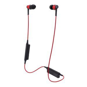 オーディオテクニカ Ver.4.1 Bluetooth対応ワイヤレスヘッドセット(レッド) audio-technica ATH-CKR35BT-RD 返品種別A|joshin