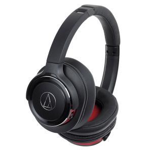 オーディオテクニカ Bluetooth対応ワイヤレスヘッドホン(ブラックレッド) audio-technica ATH-WS660BT BRD 返品種別A|joshin