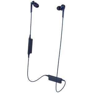 オーディオテクニカ Bluetooth対応 ダイナミック密閉型カナルイヤホン(ブルー) audio-technica SOLID BASS ATH-CKS550XBT BL 返品種別A|joshin