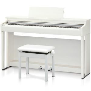 カワイ 電子ピアノ(プレミアムホワイトメープル調仕上げ)(高低自在椅子&ヘッドホン付き) KAWAI CN27-A 返品種別A|joshin