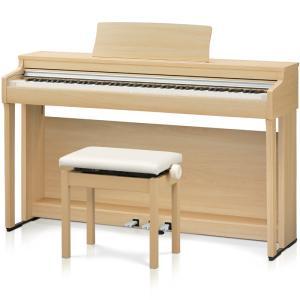 カワイ 電子ピアノ(プレミアムライトオーク調仕上げ)(高低自在椅子&ヘッドホン付き) KAWAI CN27-LO 返品種別A|joshin
