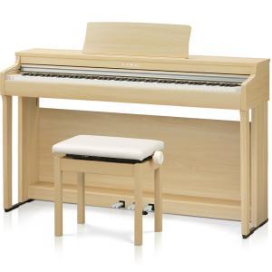 カワイ 電子ピアノ(プレミアムライトオーク調仕上げ)(高低自在椅子&ヘッドホン付き) KAWAI C...