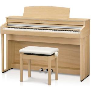 カワイ 電子ピアノ(プレミアムライトオーク調)(高低自在椅子&ヘッドホン付き) KAWAI Conc...
