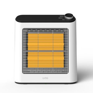 ユーイング 電気ストーブ(ホワイト) (暖房器具)U・ING US-Q800L-W 返品種別A|joshin