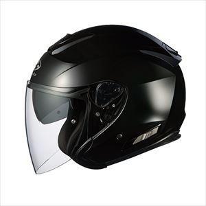 OGKカブト オープンフェイスヘルメット(ブラックメタリック)[M] OGK ASAGI ASAGI-BK-M 返品種別B|joshin