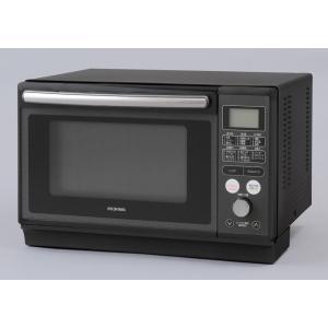 アイリスオーヤマ スチームオーブンレンジ 24L ブラック IRIS OHYAMA MO-FS2403 返品種別Aの画像