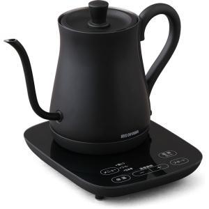 アイリスオーヤマ 電気ケトル 0.6L ブラック IRIS OHYAMA Drip kettle IKE-C600T-B 返品種別Aの画像