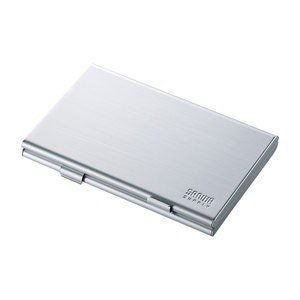 サンワサプライ アルミメモリーカードケース(SDカード用・両面収納タイプ) FC-MMC5SDN 返品種別A|joshin