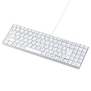 サンワサプライ USBスリムキーボード(ホワイト) SKB-SL17WN 返品種別A|joshin