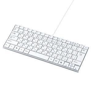 サンワサプライ USBスリムキーボード(ホワイト) SKB-SL18WN 返品種別A|joshin