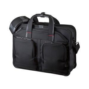 サンワサプライ 15.6インチワイド対応 エグゼクティブビジネスバッグPRO(ブラック) BAG-EXE8 返品種別A|joshin