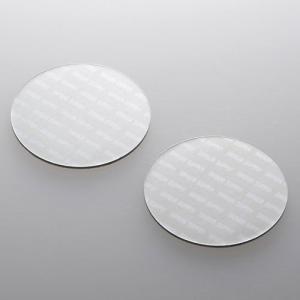 サンワサプライ ノートパソコン冷却パッド(丸型・2枚入り・シルバー) TK-CLNP2SV 返品種別A|joshin