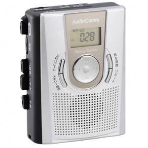 オーム メモリー機能付 カセットレコーダー AudioComm OHM CAS-R384Z 返品種別A joshin