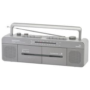 オーム ダブルラジカセ AudioComm OHM RCS-W960R(07-8926) 返品種別A