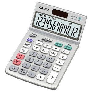 カシオ 卓上電卓 12桁 スタンダード電卓 ジャストタイプ JF-120GT-N 返品種別A|joshin