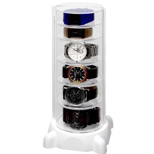 シンコハンガー タワー型時計コレクションケースコレクタワー・G CTG-W 返品種別A|joshin