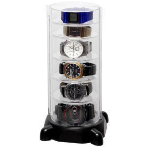 シンコハンガー スタック型時計コレクションケースコレクタワー・ウォッチスタック CTG-BK 返品種別A|joshin