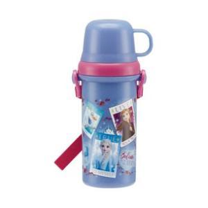 スケーター 直飲みコップ付きプラ水筒 0.48L アナと雪の女王2 SKATER PSB5KD 返品...
