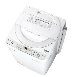 (標準設置 送料無料) シャープ 6.0kg 全自動洗濯機 ホワイト系 SHARP 穴なし槽 ES-GE6C-W 返品種別A|joshin
