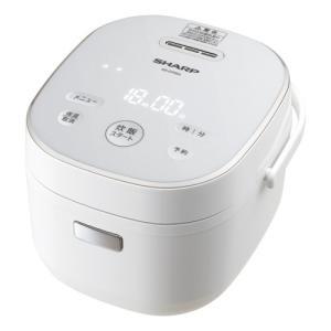 シャープ ジャー炊飯器 (3合炊き) ホワイト系 SHARP KS-CF05A-W 返品種別A|joshin