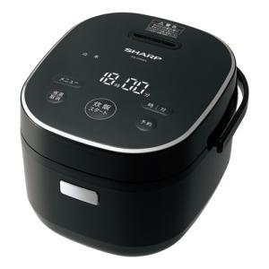 シャープ ジャー炊飯器 (3合炊き) ブラック系 SHARP KS-CF05A-B 返品種別A|joshin
