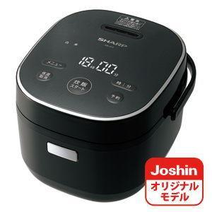 シャープ ジャー炊飯器 (3合炊き) ブラック SHARP KS-CF05AのJoshinオリジナル...