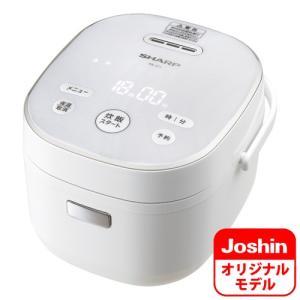 シャープ ジャー炊飯器 (3合炊き) ホワイト SHARP KS-CF05AのJoshinオリジナルモデル KS-JC5-W 返品種別A|joshin
