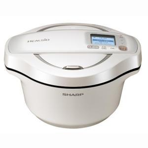 シャープ 水なし自動調理鍋 2.4L ホワイト系 SHARP ヘルシオホットクック KN-HW24E-W 返品種別A