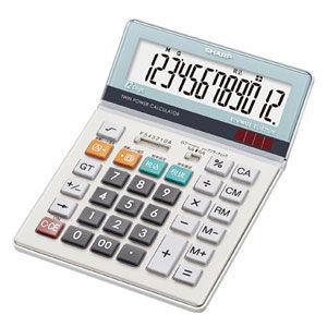 シャープ 卓上電卓 セミデスクタイプ 12桁 EL-S752K-X 返品種別A|joshin