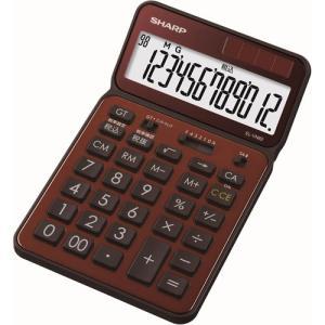 シャープ 卓上電卓 12桁(ブラウン) 50周年記念モデル EL-VN82-TX 返品種別A|joshin
