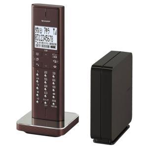 シャープ デジタルコードレス電話機(ブラウン系) JD-XF1CL-T 返品種別A|joshin