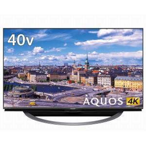 (標準設置 送料無料 Aエリアのみ) シャープ 40V型地上・BS・110度CSデジタル 4K対応 LED液晶テレビ Android TV 機能搭載4K対応AQUOS 4T-C40AJ1 返品種別A|joshin