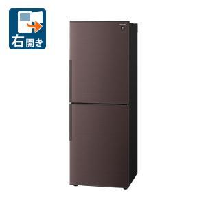 (標準設置 送料無料) シャープ 280L 2ドア冷蔵庫(ブラウン系)(右開き) SHARP プラズマクラスター冷蔵庫 SJ-PD28E-T 返品種別A|joshin