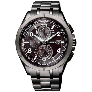 シチズン アテッサ ダイレクトフライト Black Titanium Seriesソーラー電波時計 ...