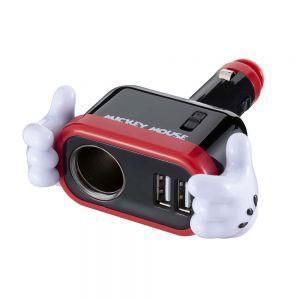 ナポレックス WD-323 イルミソケットD1 USB 2.4A(ミッキー) WD323 返品種別A joshin