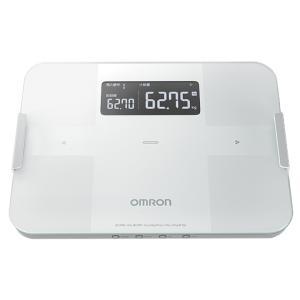 オムロン 体重体組成計 (ホワイト) OMRON カラダスキャン HBF-255T-W 返品種別A|joshin