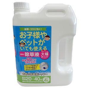 トヨチュー お酢の除草液シャワー 4L 除草剤 #396666 返品種別A|joshin