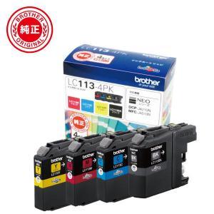 ブラザー 純正インクカートリッジ お徳用4色パック LC113BK、LC113C、LC113M、LC113Y LC113-4PK 返品種別A|joshin