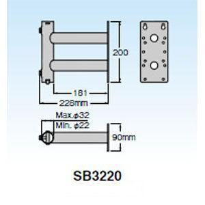 マスプロ サイドベース UHFアンテナ+BS・CSアンテナ設置用 MASPRO SB3220 返品種別A|joshin
